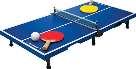 Folding mini table tennis portable table top play set games play sport with easy carry case - Wake sport tennis de table ...