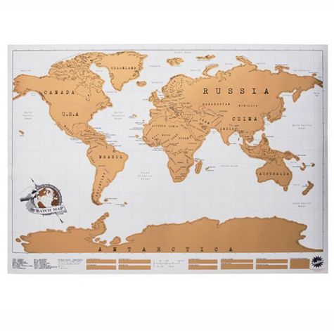 Scratch Map Personalised World Map Poster price review and buy in