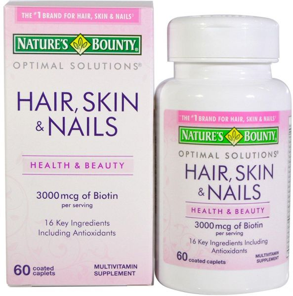 Souq | Nature\'s Bounty, Hair, Skin & Nails, 60 Coated Caplets ...