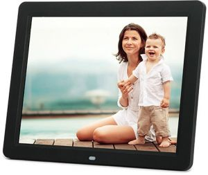 12 inch lcd tft multifunctional picture digital photo frame with mp3mp4 player black - Electronic Picture Frame
