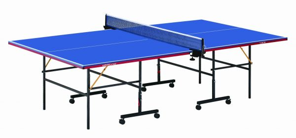 marshal fitness table tennis table ping pong table with post and net blue