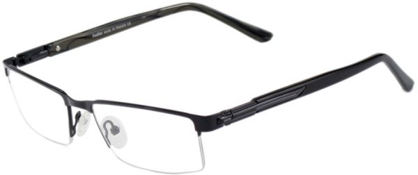 Souq | Feather Semi-rimless Eye Frame Black Glasses For Men | Oman
