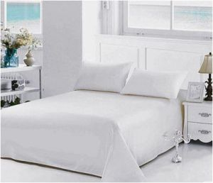 Feifei Home Twin/Single Size, Poly Cotton,Solid Pattern, White   Bed