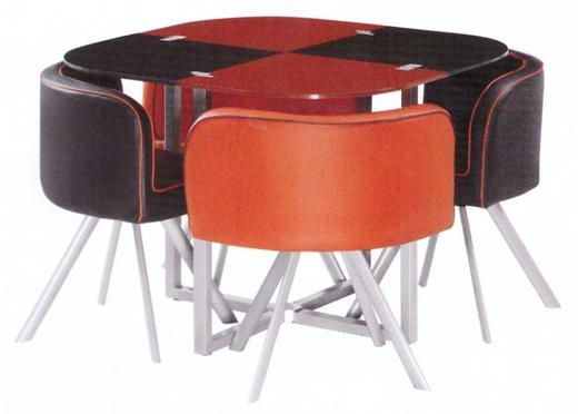 Glassy 4pcs Dining Table Set Of Red Price Review And Buy In Dubai