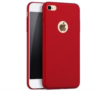 iPhone 7 Case Cover (2016), Smoothly Shield Skin Ultra Thin Slim Full Body Protective Scratch Resistant iPhone7 Cover-Red