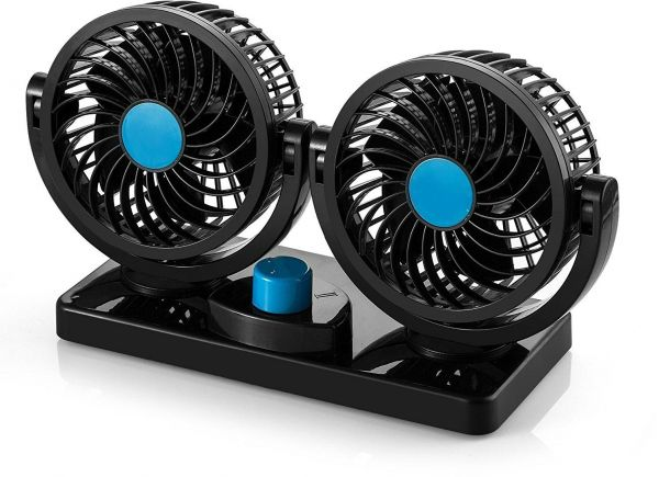 Souq 12v Dc Electric Car Fan Rotatable 2 Speed Dual