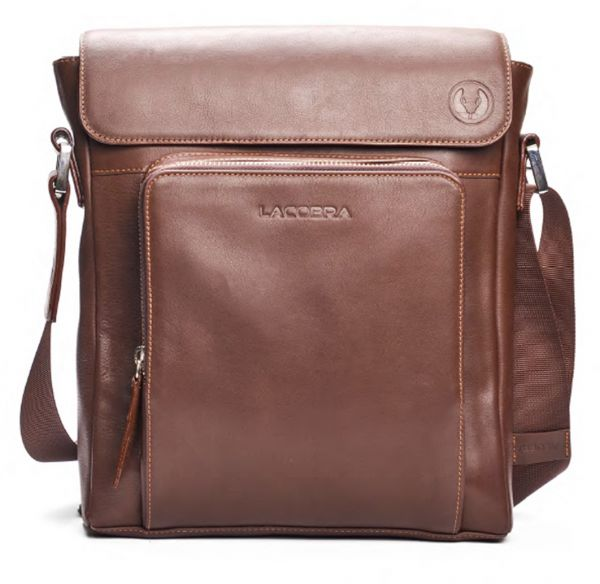 Lacobra Leather Bag For Men Brown Messenger Bags