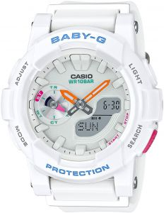 Casio Baby G for Women - Analog-Digital Resin Band Watch - BGA-185-7A