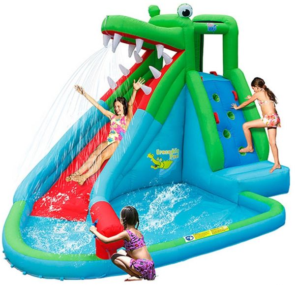 Happy hop crocodile water silde 9517 price review and for Happy hop inflatable water slide