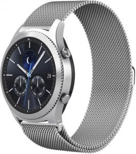 Milanese Loop Mesh Stainless Steel Watch Band With Magnet Lock For Samsung Gear S3 Frontier/Classic