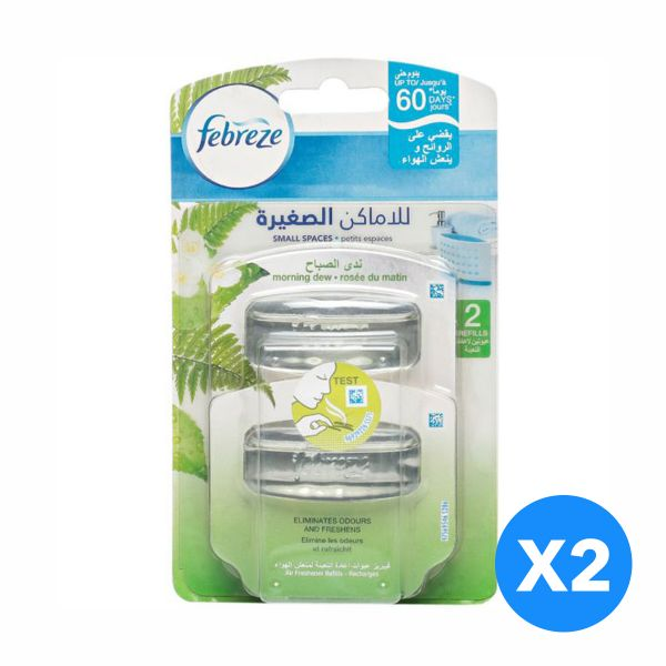 Febreze Small Spaces - Mornign Dew Refill - Pack of 2-Pieces (2X5 ...