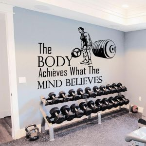 Wall gym fitness quotes canvas wall art one day this pain