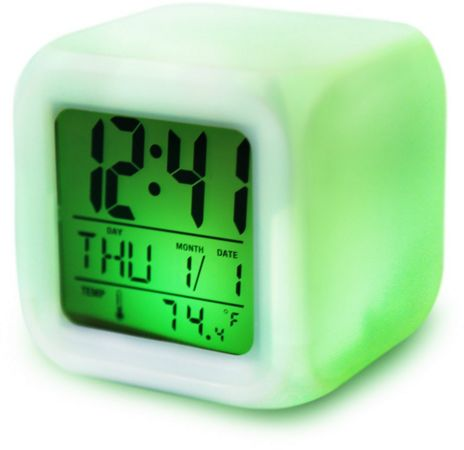 souq 7 led colors changing digital alarm clock desk. Black Bedroom Furniture Sets. Home Design Ideas