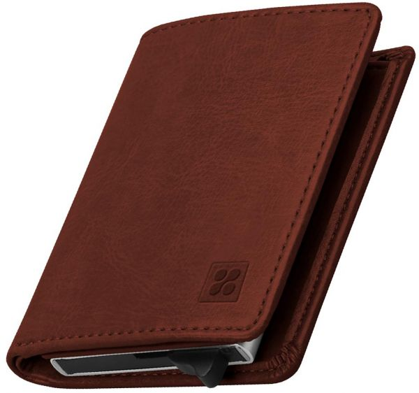 Promate RFID Blocking Wallet, Ultra Slim Bifold Leather Wallet with RFID  Protection and 2 Currency Pockets for ID Card, Credit Card, Business Cards,  ...
