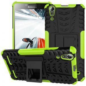 the latest d945d 55234 Lenovo A6000 -Heavy Duty Armor Hybrid ShockProof Hard Back Case Cover -Green