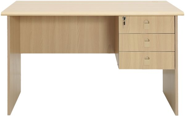 office table wood. AFT Office Table With 1 Side Drawer, Beige Wood E