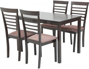 AFT Cheer 4 Seater Dining Table With Chairs Wengi