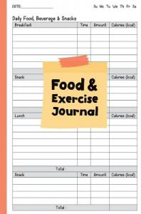 Food and Exercise Journal: Fitness Journal: 6x9(perfect Food and Exercise Char by Together Pj - Paperback