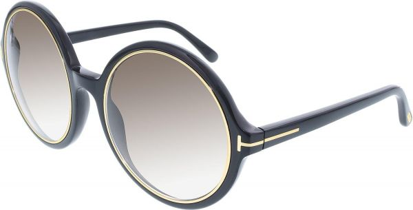 bdf9b9d13c Tom Ford Gradient Carrie FT0268-01F-59 Round Sunglasses for Women ...