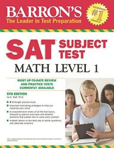 Barrons Sat Subject Test Math Level 1, 5Th Edition by Ira K. Wolf Ph.D. - Paperback