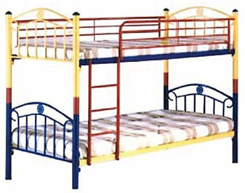 Multi Colored Metal Bunk Bed With Slats Base 170 X 90 X 190 Cm