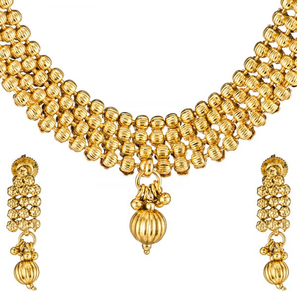 Buy istyle4u gold plated jewelry set of 3 is4u55polki for Is gold plated jewelry worth anything
