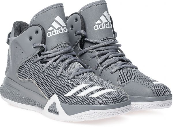 Buy Adidas Aq7754 Basketball Shoes For Men Grey Athletic Shoes