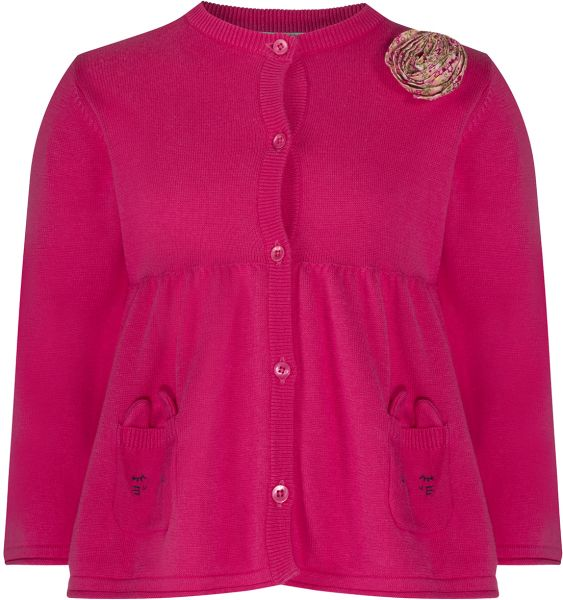 0ee7b92d97 The Essential One Pink Cotton Cardigan For Girls