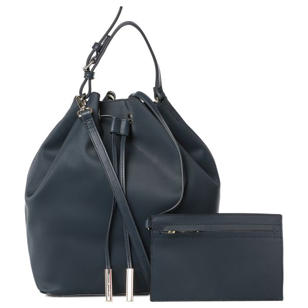 Tommy Hilfiger Aw0aw02008 Hobos For Women Leather Midnight Blue