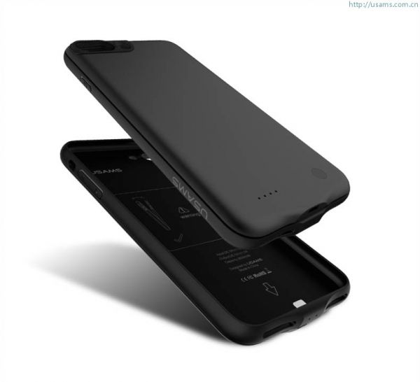 newest 52f4e 57ab5 USAMS Battery Case 3650 MAh For Iphone 7 Plus , Black - KDG-10