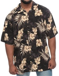 af5ba9dfb Island Outfitters Big and Tall Tropical Flowers and Palm Short Sleeve Shirt  for Men - Multi Color