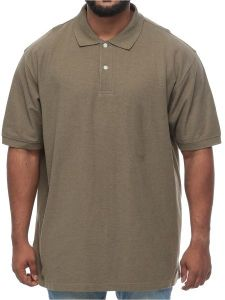 d1ae9b732 Harbor Bay Big and Tall Wood Pique Polo Short Sleeve Shirt for Men - Olive  Green