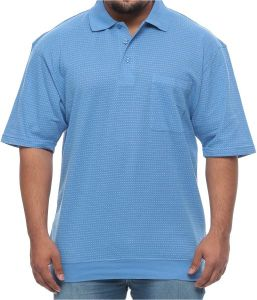 c32a4d5ad Foxfire Big and Tall Banded Bottom Polo Dash Short Sleeve Shirt for Men -  Blue