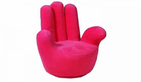 Hand shaped rotating sofa chair pink yk fs pnk price for Hand shaped bean bags
