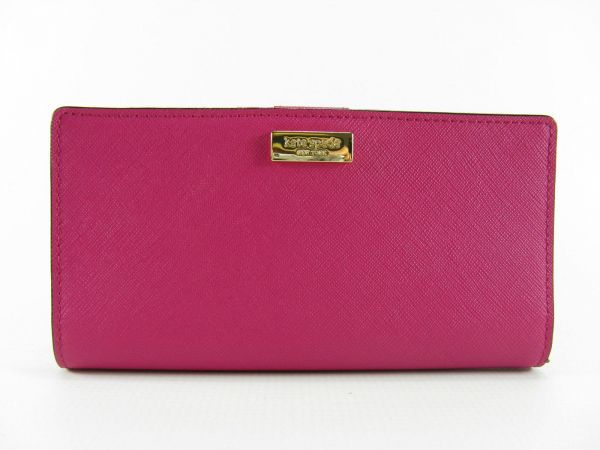 65456365c4a8c Kate Spade New York WLRU2673 - 686 Stacy Laurel Way Saffiano Leather Wallet  Clutch - Sweetheart Pink
