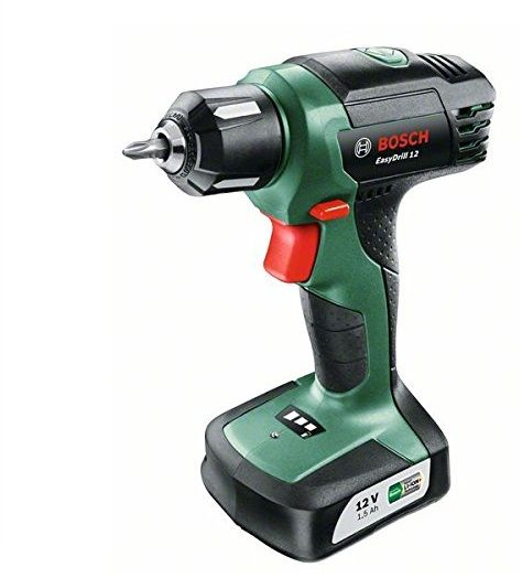 bosch easydrill 12 cordless drill driver with integrated 12 v lithium ion battery 06039b3071. Black Bedroom Furniture Sets. Home Design Ideas
