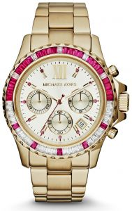 b9a044178 Michael Kors Everest Women's Silver Dial Gold-Tone Stainless Steel Band  Watch - MK5871