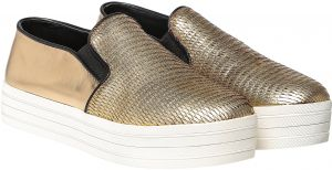 Steve Madden Buhba Slip On Shoes for Women - Gold Multi