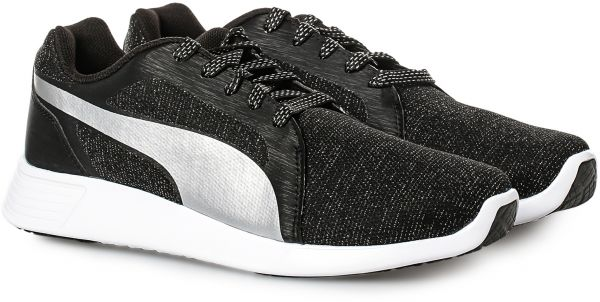 Puma ST Trainer Evo Gleam Shoes for Women - Black   White  4a47be51ae