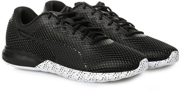 puma vigor black running shoes