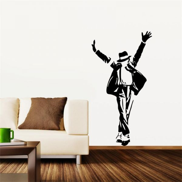michael jackson wall decals for living room, celebrity superstar