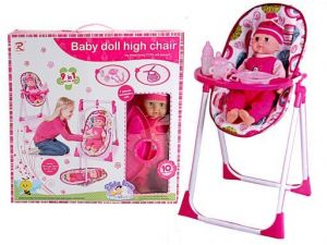 Baby Doll High Chair 9 In 1 Play Set As Doll Baby Dining Chair And