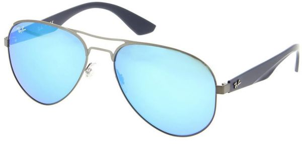 560f50a510 Ray Ban Aviator Sunglasses for Men - Blue Mirror Lens