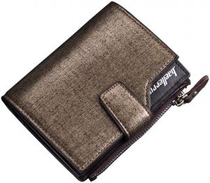 Baellerry Sand Pattern Style Mens wallet with zipper Coins Holder c65268ae47b1f
