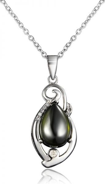 Souq elegant created emerald white gold pated green opal pendant elegant created emerald white gold pated green opal pendant necklace aloadofball Images