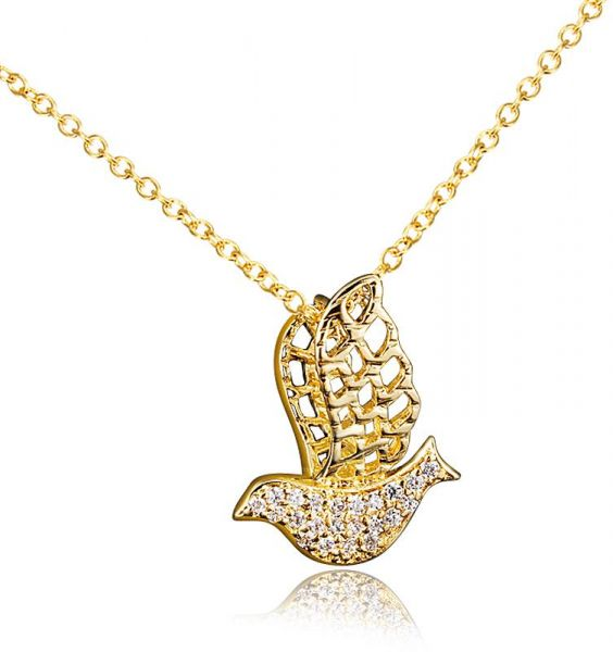 Souq bird animal pendant necklace 18k real gold plated jewelry bird animal pendant necklace 18k real gold plated jewelry necklace aloadofball Image collections