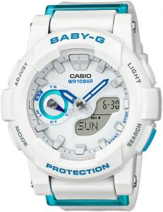Casio Baby-G Women's White Dial Silicone Band Watch - BGA-185FS-7ADR