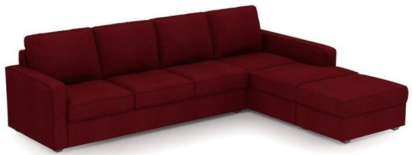 Mini L Shaped Sofa Set Suede Red 250 X 200 Cm