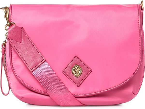 Anne Klein Flap Bag For Women Hot Pink