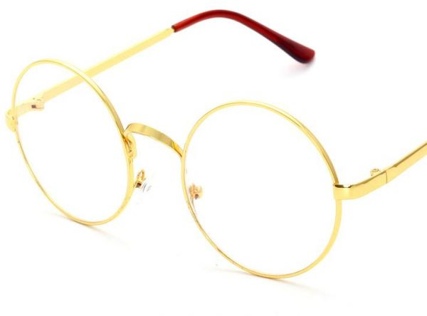 13b21b4c5 Harry potter in same circle flat lens Full metal crown restoring ancient  ways mirror lenses